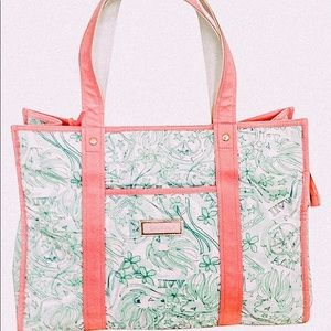 Lily Pulitzer ADPi pink and blue tote bag!